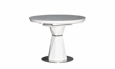 Стіл РАУНД кераміка білий 1000/1300×760