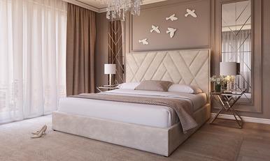 Ліжко 1,6 СТЕЛЛА бежевий