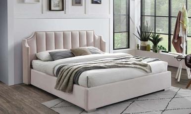 Ліжко 1,8 Лілібет світло-рожеве високе узголів'я