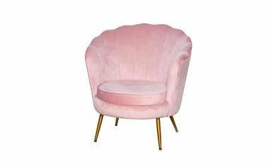 Крісло Шелл рожеве